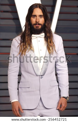 LOS ANGELES - FEB 22:  Jared Leto at the Vanity Fair Oscar Party 2015 at the Wallis Annenberg Center for the Performing Arts on February 22, 2015 in Beverly Hills, CA - stock photo