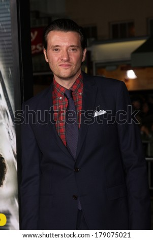 "LOS ANGELES - FEB 24:  Jason Butler Harner at the ""Non-Stop"" Premiere at Village Theater on February 24, 2014 in Westwood, CA"