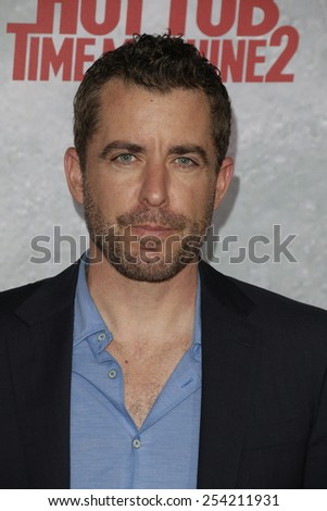 LOS ANGELES - FEB 18: Jason Jones at the 'Hot Tub Time Machine 2' premiere on February 18, 2014 in Los Angeles, California - stock photo