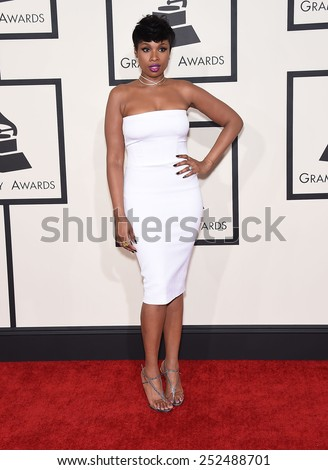 LOS ANGELES - FEB 08:  Jennifer Hudson arrives to the Grammy Awards 2015  on February 8, 2015 in Los Angeles, CA                 - stock photo