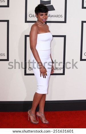 LOS ANGELES - FEB 8:  Jennifer Hudson at the 57th Annual GRAMMY Awards Arrivals at a Staples Center on February 8, 2015 in Los Angeles, CA - stock photo