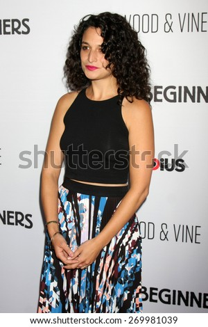 "LOS ANGELES - FEB 15:  Jenny Slate at the ""Adult Beginners"" Los Angeles Premiere at the ArcLight Hollywood Theaters on April 15, 2015 in Los Angeles, CA - stock photo"