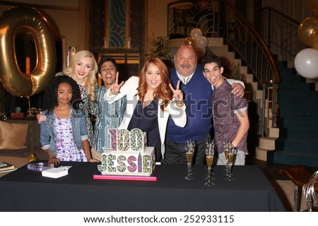 "LOS ANGELES - FEB 12:  Jessie Cast at the Disney Channel's ""Jessie"" Celebrates 100 Episodes at a Hollywood Center Studios on February 12, 2015 in Los Angeles, CA - stock photo"