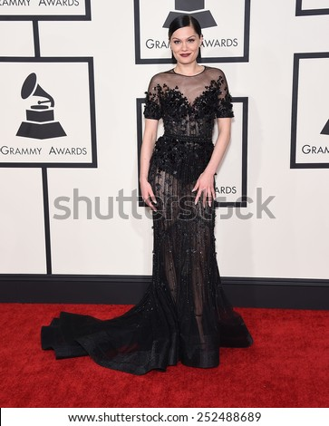 LOS ANGELES - FEB 08:  Jessie J arrives to the Grammy Awards 2015  on February 8, 2015 in Los Angeles, CA                 - stock photo
