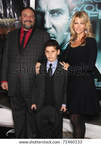 "LOS ANGELES - FEB 16:  Joel Silver & Family arrive at the ""Unknown"" Los Angeles Premiere  on February 16, 2011 in Westwood, CA"