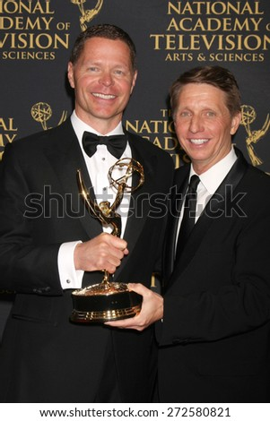 LOS ANGELES - FEB 24:  John Nordstrom, Bradley Bell at the Daytime Emmy Creative Arts Awards 2015 at the Universal Hilton Hotel on April 24, 2015 in Los Angeles, CA - stock photo