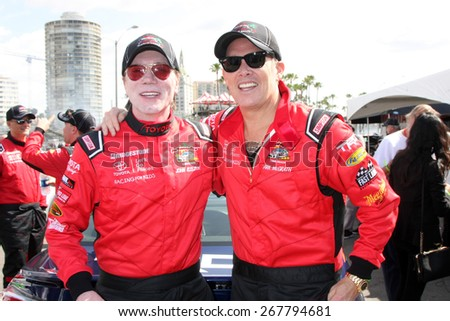 LOS ANGELES - FEB 7:  John Rzeznik, Mark McGrath at the Toyota Grand Prix of Long Beach Pro/Celebrity Race Press Day at the Grand Prix Compound on FEB 7, 2015 in Long Beach, CA - stock photo