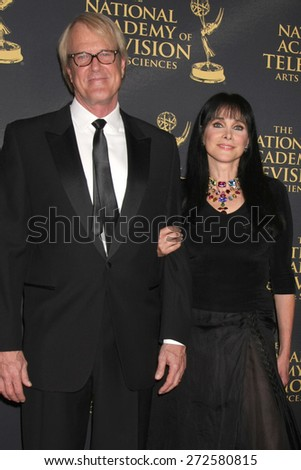 LOS ANGELES - FEB 24:  John Tesh, Connie Sellecca at the Daytime Emmy Creative Arts Awards 2015 at the Universal Hilton Hotel on April 24, 2015 in Los Angeles, CA - stock photo