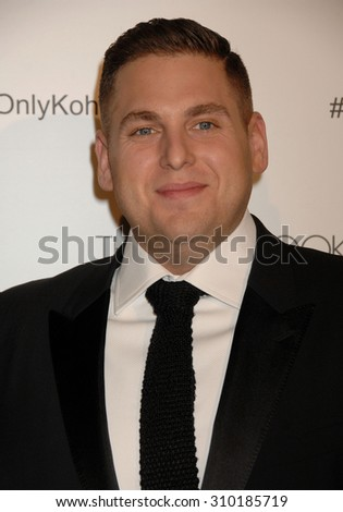 LOS ANGELES - FEB 8:  Jonah Hill arrives at the 18th Annual ADG Awards  on February 8, 2014 in Beverly Hills, CA                 - stock photo