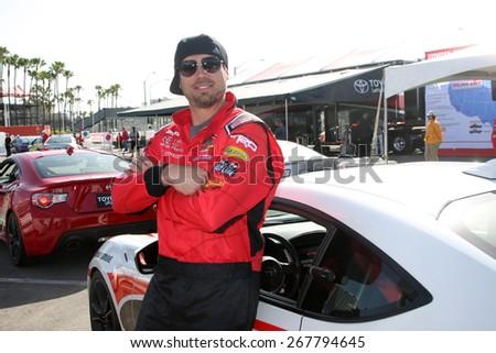 LOS ANGELES - FEB 7:  Joshua Morrow at the Toyota Grand Prix of Long Beach Pro/Celebrity Race Press Day at the Grand Prix Compound on FEB 7, 2015 in Long Beach, CA - stock photo