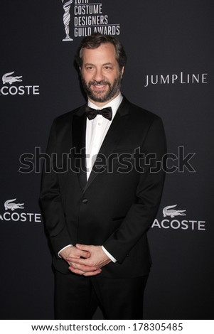 LOS ANGELES - FEB 22:  Judd Apatow at the 16th Annual Costume Designer Guild Awards at Beverly Hilton Hotel on February 22, 2014 in Beverly Hills, CA - stock photo