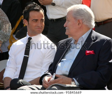 LOS ANGELES - FEB 22:  Justin Theroux, John Aniston at the Jennifer Aniston Hollywood Walk of Fame Star Ceremony at the W Hollywood on February 22, 2012 in Los Angeles, CA.