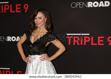 LOS ANGELES - FEB 16:  Karina Smirnoff at the Triple 9 Premiere at the Regal 14 Theaters on February 16, 2016 in Los Angeles, CA - stock photo