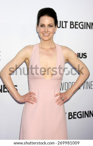"LOS ANGELES - FEB 15:  Karrie Cox at the ""Adult Beginners"" Los Angeles Premiere at the ArcLight Hollywood Theaters on April 15, 2015 in Los Angeles, CA - stock photo"