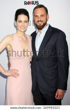 "LOS ANGELES - FEB 15:  Karrie Cox, Marcus Cox at the ""Adult Beginners"" Los Angeles Premiere at the ArcLight Hollywood Theaters on April 15, 2015 in Los Angeles, CA - stock photo"
