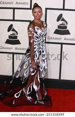 LOS ANGELES - FEB 8:  Kat Graham at the 57th Annual GRAMMY Awards Arrivals at a Staples Center on February 8, 2015 in Los Angeles, CA - stock photo