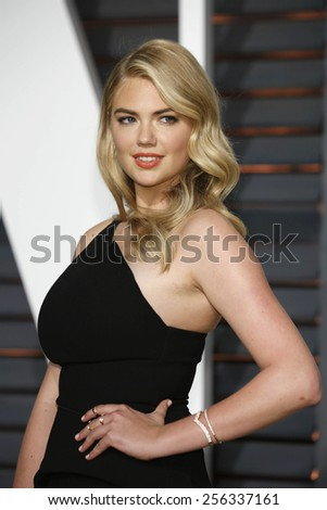 LOS ANGELES - FEB 22:  Kate Upton at the Vanity Fair Oscar Party 2015 at the Wallis Annenberg Center for the Performing Arts on February 22, 2015 in Beverly Hills, CA - stock photo