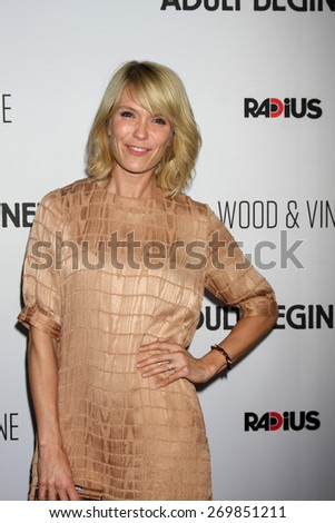 """LOS ANGELES - FEB 15:  Katie Aselton at the """"Adult Beginners"""" Los Angeles Premiere at the ArcLight Hollywood Theaters on April 15, 2015 in Los Angeles, CA - stock photo"""