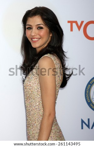 LOS ANGELES - FEB 6:  Katie Findlay at the 46th NAACP Image Awards Arrivals at a Pasadena Convention Center on February 6, 2015 in Pasadena, CA - stock photo