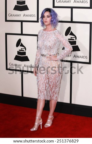 LOS ANGELES - FEB 8:  Katy Perry at the 57th Annual GRAMMY Awards Arrivals at a Staples Center on February 8, 2015 in Los Angeles, CA - stock photo