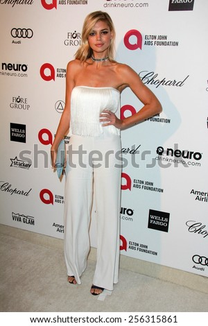 LOS ANGELES - FEB 22:  Kelly Rohrbach at the Elton John Oscar Party 2015 at the City Of West Hollywood Park on February 22, 2015 in West Hollywood, CA - stock photo