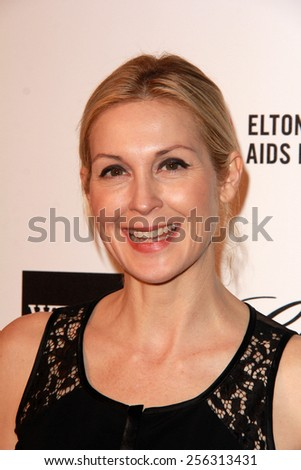 LOS ANGELES - FEB 22:  Kelly Rutherford at the Elton John Oscar Party 2015 at the City Of West Hollywood Park on February 22, 2015 in West Hollywood, CA - stock photo