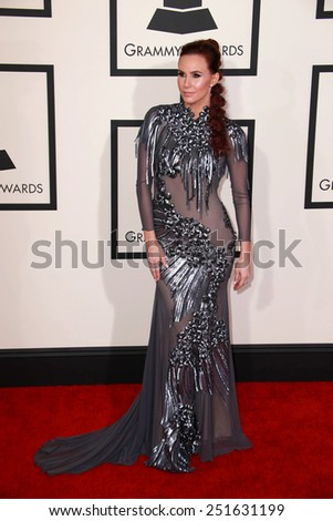 LOS ANGELES - FEB 8:  Keltie Knight at the 57th Annual GRAMMY Awards Arrivals at a Staples Center on February 8, 2015 in Los Angeles, CA - stock photo