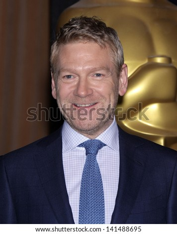 LOS ANGELES - FEB 6:  KENNETH BRANAGH arrives to the 2012 Academy Awards Nominee Luncheon  on Feb 6, 2012 in Beverly Hills, CA - stock photo