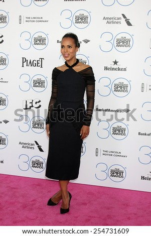 LOS ANGELES - FEB 21:  Kerry Washington at the 30th Film Independent Spirit Awards at a tent on the beach on February 21, 2015 in Santa Monica, CA - stock photo