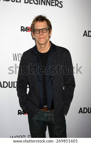 """LOS ANGELES - FEB 15:  Kevin Bacon at the """"Adult Beginners"""" Los Angeles Premiere at the ArcLight Hollywood Theaters on April 15, 2015 in Los Angeles, CA - stock photo"""