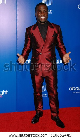 LOS ANGELES - FEB 11:  Kevin Hart arrives at the Pan African Film and Arts Festival Premiere of Screen Gems About Last Night   on February 11, 2014 in Hollywood, CA                 - stock photo