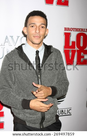 "LOS ANGELES - FEB 13:  Khleo Thomas at the ""Brotherly Love"" LA Premiere at the Silver Screen Theater at the Pacific Design Center on April 13, 2015 in West Hollywood, CA - stock photo"