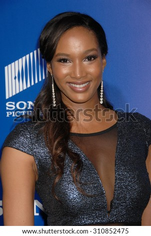 LOS ANGELES - FEB 11:  Krystal Harris arrives at the Pan African Film and Arts Festival Premiere of Screen Gems About Last Night   on February 11, 2014 in Hollywood, CA                 - stock photo
