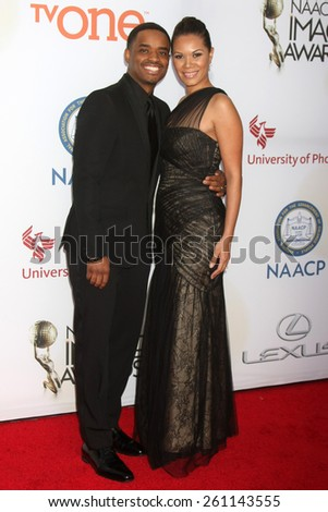 LOS ANGELES - FEB 6:  Larenz Tate at the 46th NAACP Image Awards Arrivals at a Pasadena Convention Center on February 6, 2015 in Pasadena, CA - stock photo