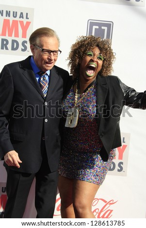 LOS ANGELES - FEB 17: Larry King, guest at the 3rd Annual Streamy Awards at the Hollywood Palladium on February 17, 2013 in Los Angeles, California - stock photo