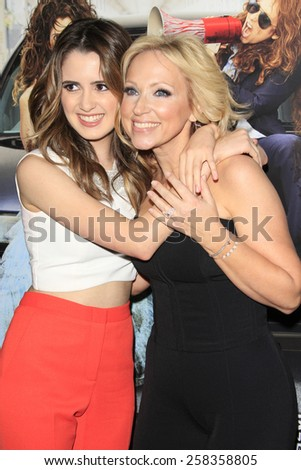 LOS ANGELES - FEB 10: Laura Marano, Leigh Allyn Baker at the screening of the Disney Channel Original Movie 'Bad Hair Day' at the Frank G Wells Theater on February 10, 2015 in Burbank, CA - stock photo