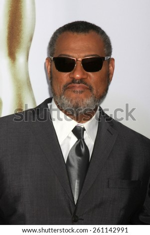 LOS ANGELES - FEB 6:  Laurence Fishburne at the 46th NAACP Image Awards Arrivals at a Pasadena Convention Center on February 6, 2015 in Pasadena, CA - stock photo