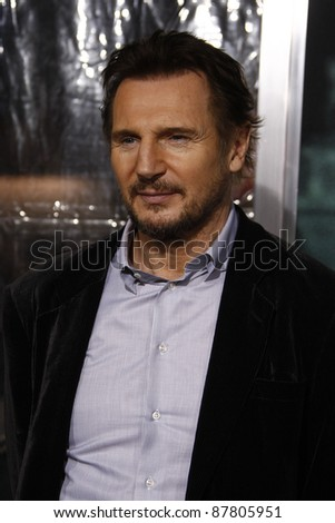 LOS ANGELES - FEB 16: Liam Neeson at the premiere of 'Unknown' held at the Regency Village Theater in Los Angeles, California on February 16, 2011