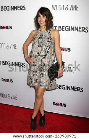 "LOS ANGELES - FEB 15:  Lindsay Sloane at the ""Adult Beginners"" Los Angeles Premiere at the ArcLight Hollywood Theaters on April 15, 2015 in Los Angeles, CA - stock photo"