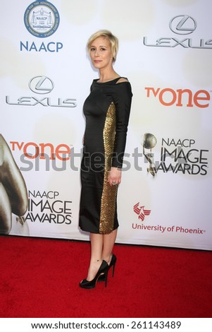 LOS ANGELES - FEB 6:  Liza Weil at the 46th NAACP Image Awards Arrivals at a Pasadena Convention Center on February 6, 2015 in Pasadena, CA - stock photo