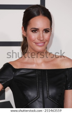 LOS ANGELES - FEB 8:  Louise Roe at the 57th Annual GRAMMY Awards Arrivals at a Staples Center on February 8, 2015 in Los Angeles, CA - stock photo