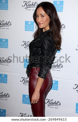 LOS ANGELES - FEB 15:  Maggie Q at the Kiehls Earth Day Creamy Eye Treatment at the Kiehls on April 15, 2015 in Santa Monica, CA - stock photo