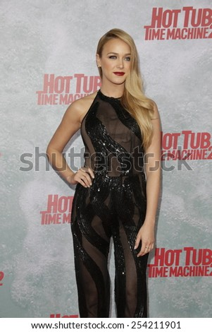 LOS ANGELES - FEB 18: Mariana Paola Vicente at the 'Hot Tub Time Machine 2' premiere on February 18, 2014 in Los Angeles, California - stock photo