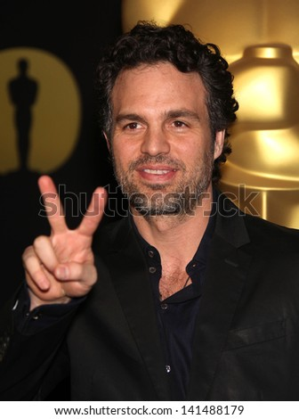 LOS ANGELES - FEB 7:  MARK RUFFALO arrives to the 83rd Academy Awards Nominees Luncheon  on Feb 7, 2011 in Beverly Hills, CA - stock photo