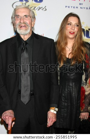 LOS ANGELES - FEB 22:  Martin Landau, Susan Landau Finch at the Night of 100 Stars Oscar Viewing Party at the Beverly Hilton Hotel on February 22, 2015 in Beverly Hills, CA - stock photo
