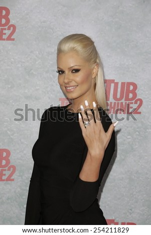 LOS ANGELES - FEB 18: Maryse Ouellet at the 'Hot Tub Time Machine 2' premiere on February 18, 2014 in Los Angeles, California - stock photo