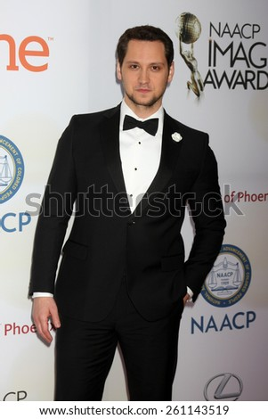 LOS ANGELES - FEB 6:  Matt McGorry at the 46th NAACP Image Awards Arrivals at a Pasadena Convention Center on February 6, 2015 in Pasadena, CA - stock photo