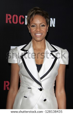 LOS ANGELES - FEB 9:  MC Lyte arrives at the ROC NATION Annual Pre-Grammy Brunch at the Soho House on February 9, 2013 in West Hollywood, CA - stock photo