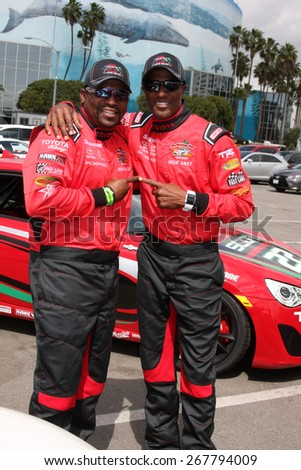 LOS ANGELES - FEB 7:  Mekhi Phifer, Willie Gault at the Toyota Grand Prix of Long Beach Pro/Celebrity Race Press Day at the Grand Prix Compound on FEB 7, 2015 in Long Beach, CA - stock photo