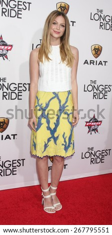 """LOS ANGELES - FEB 6:  Melissa Benoist at the """"The Longest Ride"""" Los Angeles Premiere at the TCL Chinese Theater on FEB 6, 2015 in Los Angeles, CA - stock photo"""
